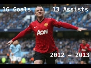 Video: Wayne Rooney / All 16 Goals and 13 Assists in 2012/2013